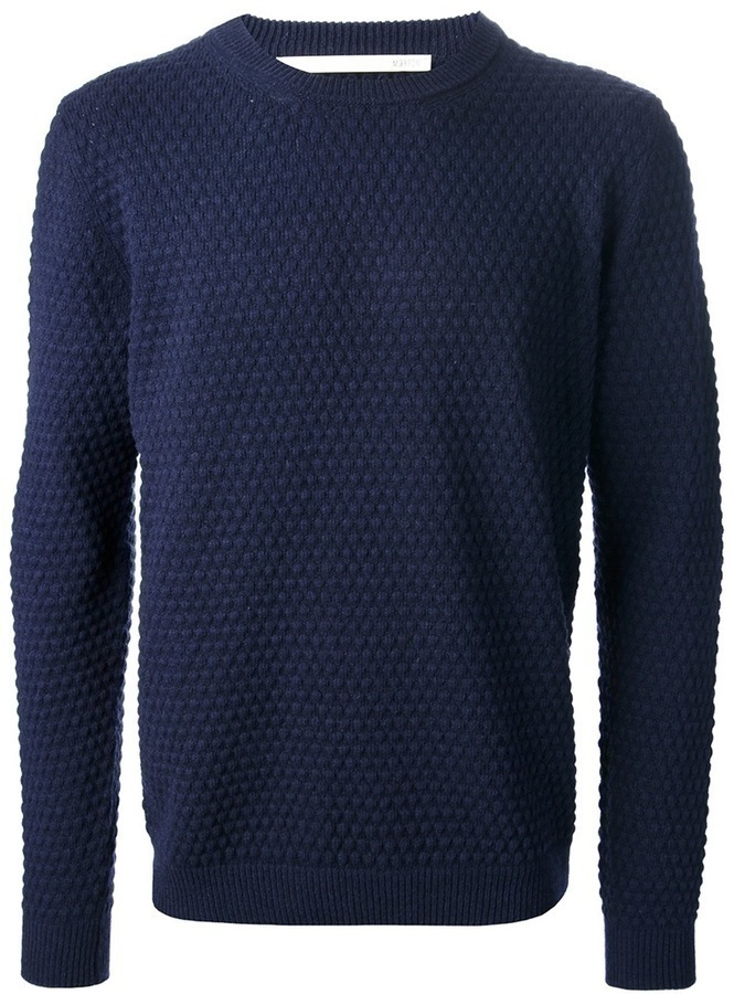 Mauro Grifoni Textured Crew Neck Sweater