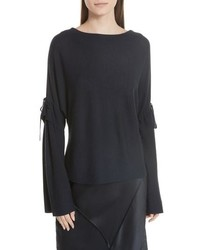 Vince Tie Sleeve Merino Wool Sweater
