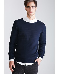 Forever 21 Tonal Striped Crew Neck Sweater
