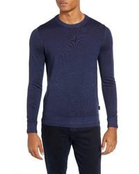 Ted Baker London Trim Fit Newab Gart Dyed Wool Sweater
