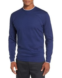 Walker tipped pima cotton long sleeve t shirt medium 792358
