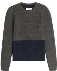 Maison Margiela Wool Alpaca Two Tone Pullover