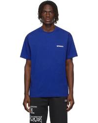 Vetements Blue Logo T Shirt