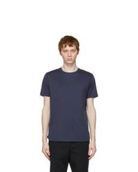 Loro Piana Blue Soft Silk Cotton T Shirt