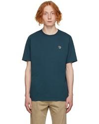 Ps By Paul Smith Blue Zebra Logo T Shirt