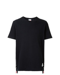 Thom Browne Center Back Stripe Relaxed Fit Short Sleeve Pique Polo Tee