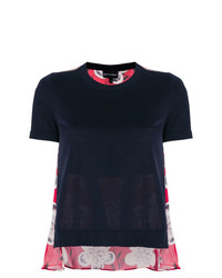 Emporio Armani Cropped Fine Knit Top