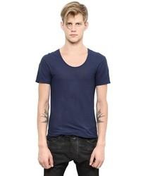 Balmain Light Rib Cotton Jersey T Shirt