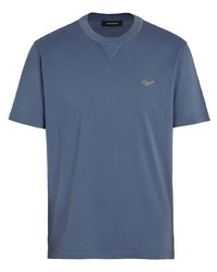 Ermenegildo Zegna Logo Embroidered T Shirt