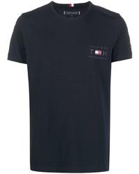 Tommy Hilfiger Logo Print Organic Cotton T Shirt