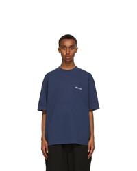 Balenciaga Navy Bb Medium Fit T Shirt