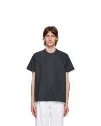 Sunnei Navy Button T Shirt