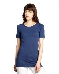 Rebecca Beeson Navy Cotton Blend Short Sleeve T Shirt