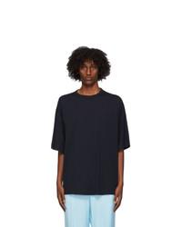 Dries Van Noten Navy Cotton T Shirt