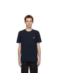 MAISON KITSUNÉ Navy Fox Head Classic T Shirt