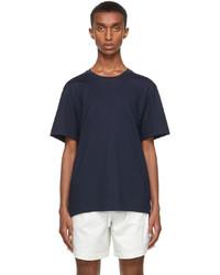 Thom Browne Navy Gusset Rwb Tipping Stripe T Shirt
