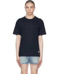 Gucci Navy Linen Jersey T Shirt