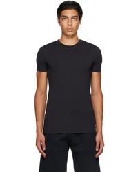 Ermenegildo Zegna Navy Micromodal Crewneck T Shirt