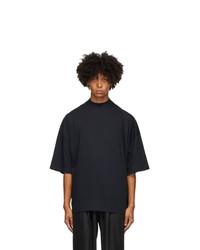 Jil Sander Navy Mock Neck T Shirt
