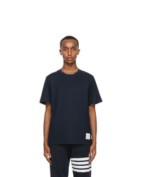 Thom Browne Navy Relaxed Fit T Shirt