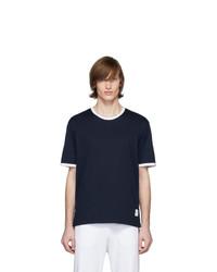 Thom Browne Navy Ringer T Shirt
