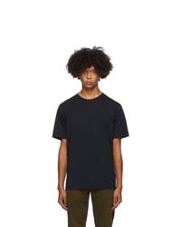 Dries Van Noten Navy Round Collar T Shirt