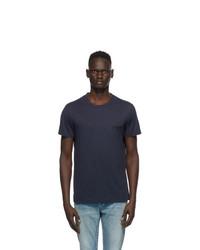 Balmain Navy Round Neck T Shirt
