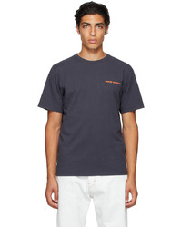 Wood Wood Navy Sami Logo T Shirt