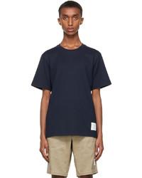 Thom Browne Navy Side Slit T Shirt