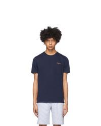 Harmony Navy Teddy Cursive T Shirt