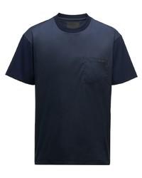 Prada Ombr Effect Logo Patch T Shirt