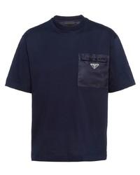 Prada Patch Pocket Cotton T Shirt
