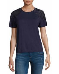 Rewind Rewind Short Sleeve Crew Neck T Shirt  Juniors
