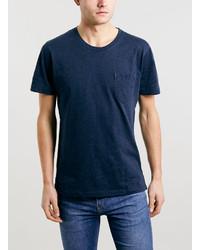 Topman Selected Homme Navy Marl Crew Neck T Shirt