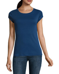 Liz Claiborne Short Sleeve Crew Neck T Shirt