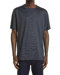 Canali Solid Crewneck T Shirt