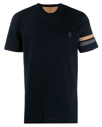 Brunello Cucinelli Striped Sleeve T Shirt