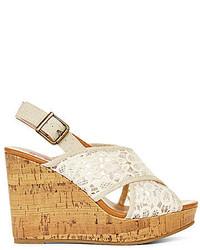 2f7448fe7ec ... POP Katrina Crisscross Lace Platform Wedge Sandals ...
