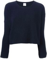 Navy Cropped Sweaters for Women | Women's Fashion