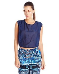 Paola Hernandez Crop Top Small Navy