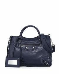 Balenciaga Classic Velo Crossbody Bag Dark Blue