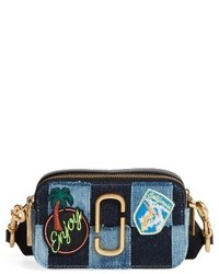 Marc Jacobs Denim Snapshot Crossbody Bag Blue