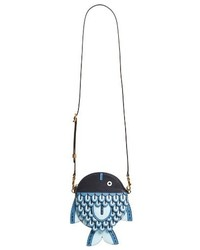 Tory Burch Fish Crossbody Bag Blue