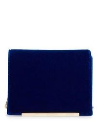Velvet Crossbody Bag Blue