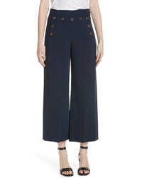 Tory Burch Button Detail Crop Pants