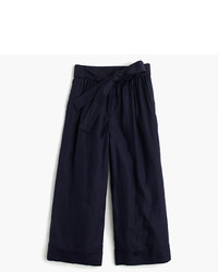 J.Crew Collection High Waisted Culotte Pant In Italian Linen