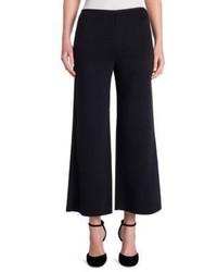 Giorgio Armani Cropped Cotton Cashmere Wide Leg Pants
