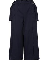 Chloé Cropped Wool Drill Wide Leg Pants