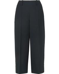 Lemaire Cropped Wool Gabardine Wide Leg Pants