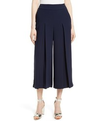 Ted Baker London Katiea Pleat Crepe Culottes